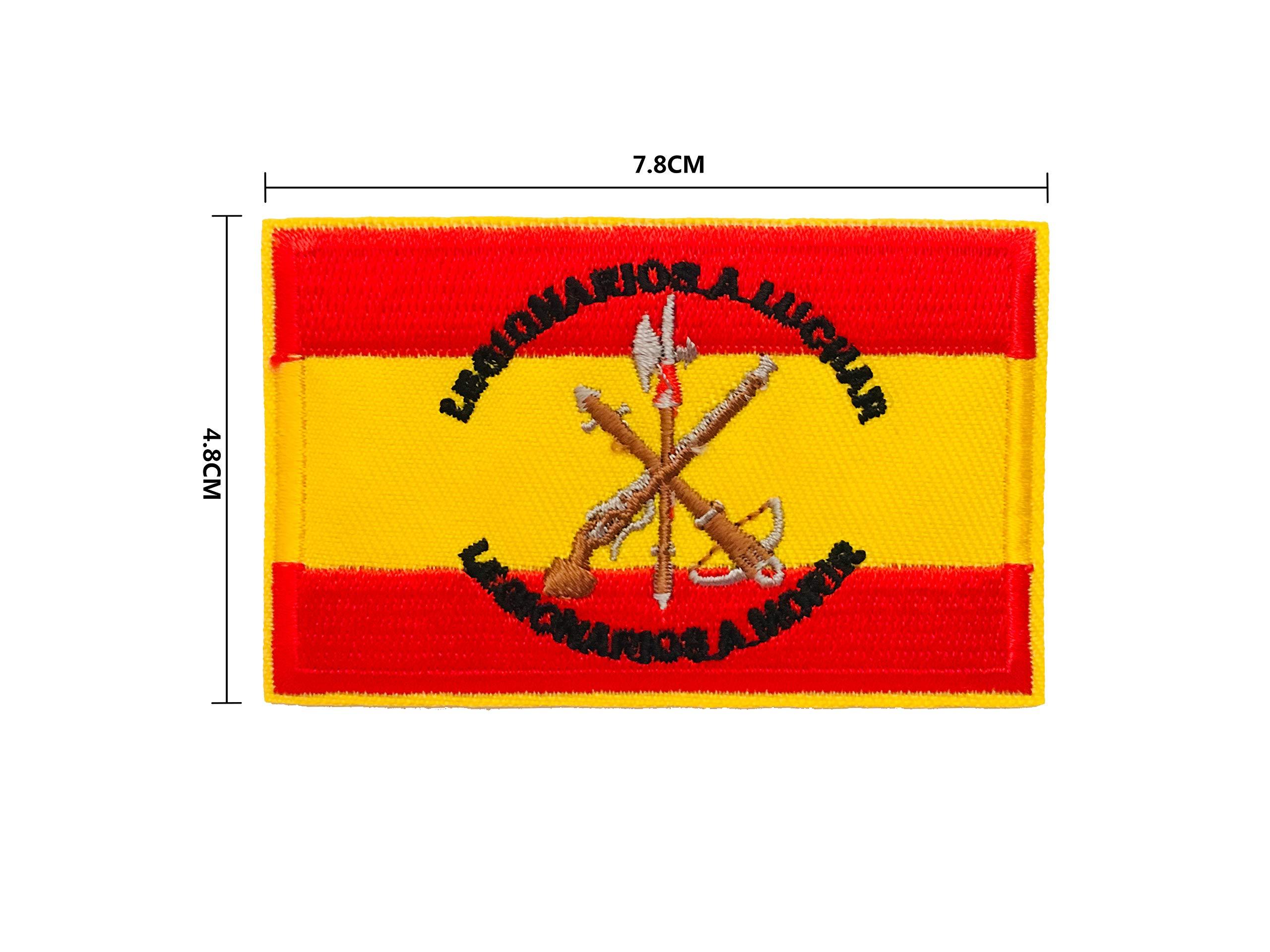 BANDERA DEL PARCHE BORDADO PARA PLANCHAR O COSER (Legión Española ...