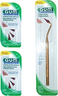 GUM Stimulator with 6 Convenient Refills Rubber Tip Replacements