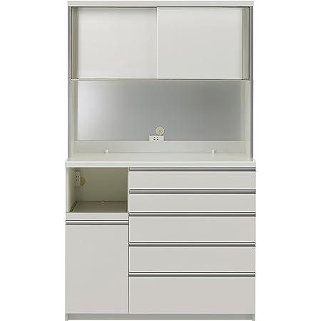 パモウナ 食器棚KG パールホワイト 幅120×高さ203×奥行50 日本製 KGL-1200R