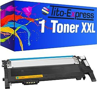 Tito-Express Platinum Serie 1 Cartucho de tóner XXL Cyan Compatible con Samsung CLT-406S CLT-406 CLP-360 360N 360ND 365 365W CLX-3300 3305 3305FN 3305FW 3305W Xpress C410W C460FW C460W C467W