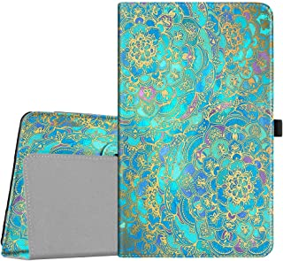 Fintie Barnes & Noble Nook 10.1 Tablet Case, Premium Vegan Leather Folio Stand Cover with Auto Wake and Sleep for Nook 10.1 Inch Model BNTV650 Tablet, Shades of Blue