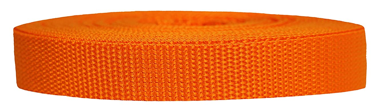 Strapworks Heavyweight Polypropylene Webbing - Heavy Duty Poly Strapping for Outdoor DIY Gear Repair, 3/4 Inch by 10, 25, or 50 Yards, Over 20 Colors
