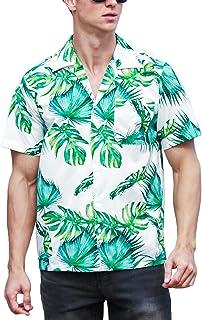 iClosam Camisa Hawaiana para Hombre Casual Estampada Funky Button Down Manga Corta Playa Verano Vacaciones