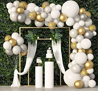 Best 136Pcs White Balloon Garland Arch Kit, 18