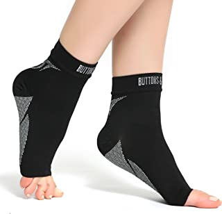 Plantar Fasciitis Socks with Arch & Ankle Support, Best Foot Care Compression Sock Brace Support, Eases Swelling & Heel Spurs, Relieve Pain Fast Increases Circulation, Better Than Night Splint
