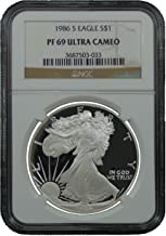 1986 S American Silver Eagle Dollar NGC PF69