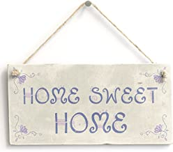 """Meijiafei Home Sweet Home - House Warming Gift Sign/Plaque 10""""x5"""" PVC-1514"""