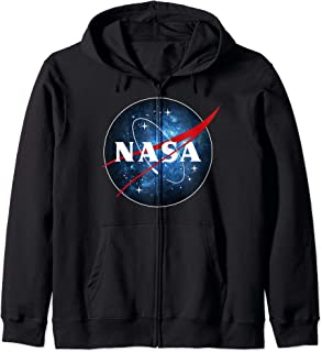 NASA Blue Galaxy Fill Classic Space Icon Sweat à Capuche