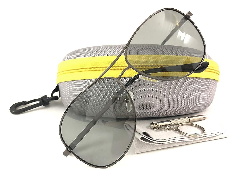 OwO Photochromic Aviator Polarized Sports Sunglasses Driving Glasses for Men Women Anti-glare UV Protection, Large