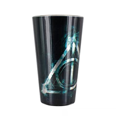 Harry Potter Deathly Hallows Drinking Glass Tumbler, 400ml