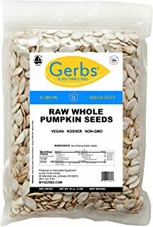 Sponsored Ad - GERBS Raw Whole Pumpkin Seeds, 32 ounce Bag, Top 14 Food Allergy Free, Non GMO, Vegan, Keto, Paleo Friendly