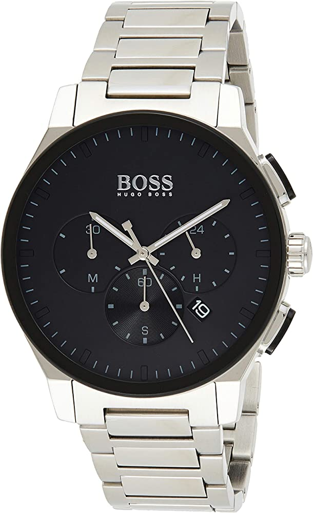 Hugo boss, orologio cronografo al quarzo per uomo, con cinturino in acciaio inossidabile 1513762