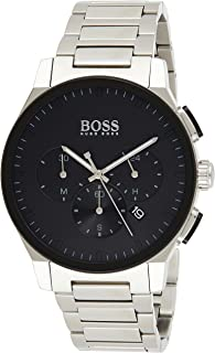 Hugo Boss Men's Black Dial Stainless Steel Watch - 1513762