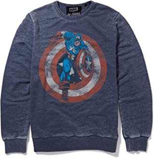Marvel Captain America Shield Blue Sweatshirt by Re:Covered