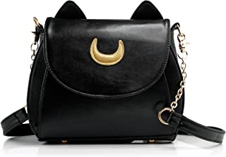 Moon Luna Purse Kitty Cat satchel shoulder Bag Designer Women Handbag Tote PU Leather Sailor School