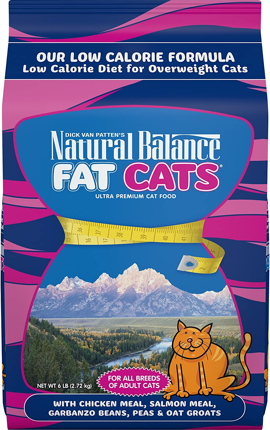 Natural Balance Fat Cats Low Calorie Dry Cat Food, 6Pound