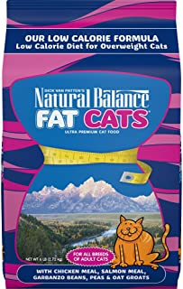 Natural Balance Fat Cats Low Calorie Dry Cat Food for Overweight Adult Cats