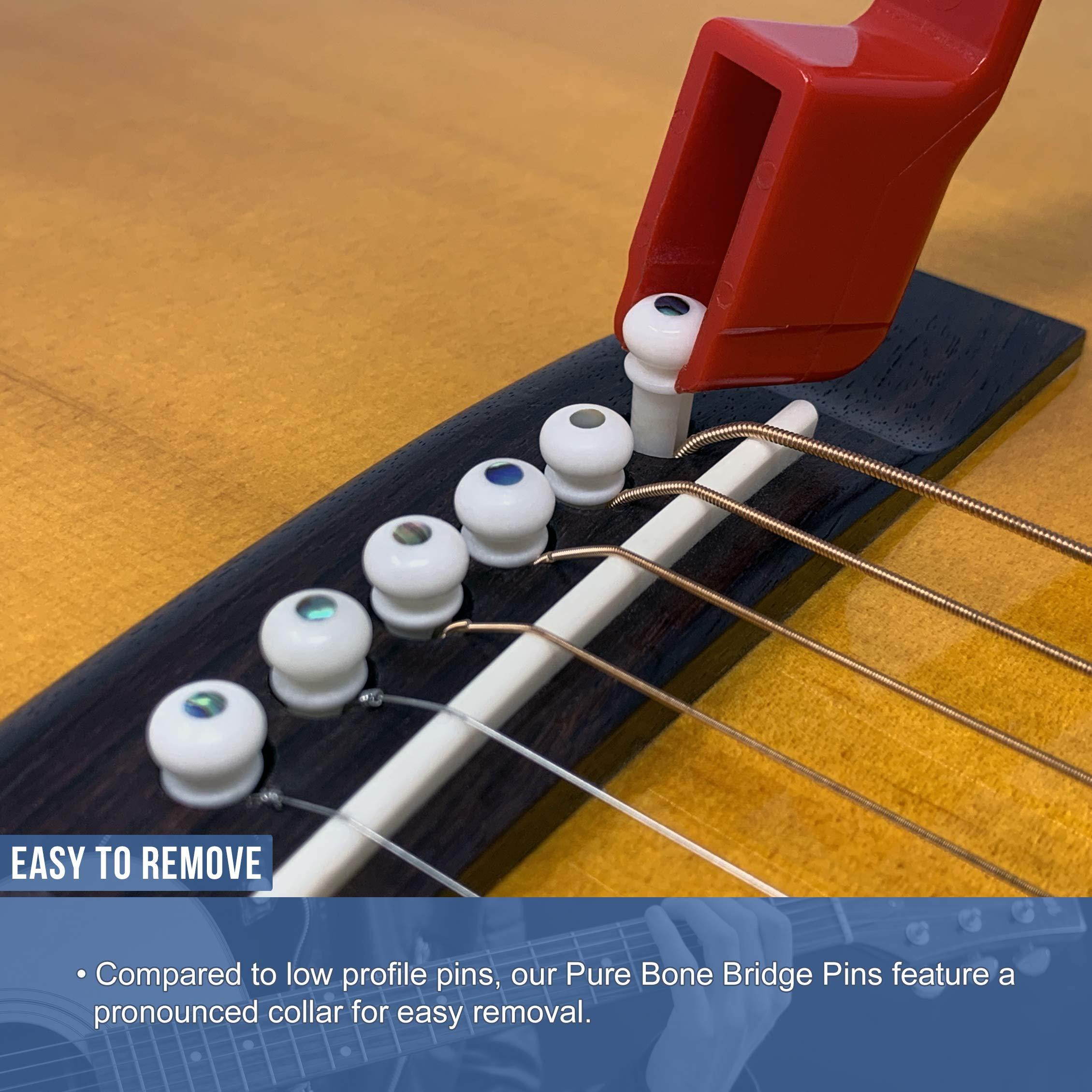 Akustikgitarren Stegstifte Nut String Pin Puller Head Guitar Bridge Endpin