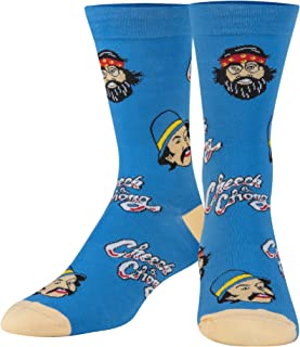 Crazy Socks, Unisex, Movies, Cheech & Chong, Crew Socks, Novelty Silly Fun Cute