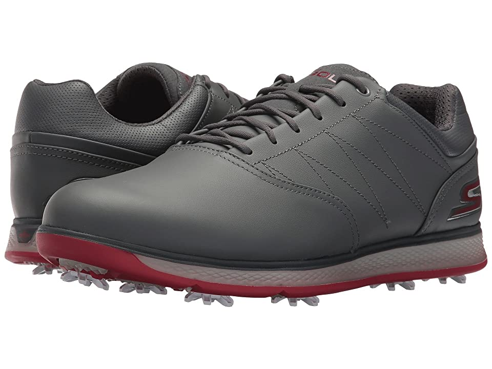 SKECHERS Performance GO GOLF Pro V.3 (Charcoal/Red) Men