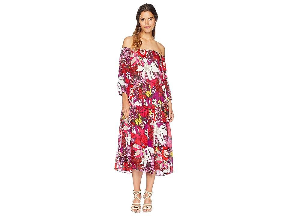 Trina Turk Cattleya Dress (Flirty Fuchsia) Women