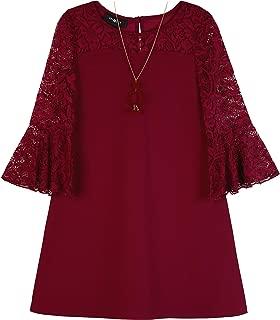 Amy Byer Girls' Big Glitter Lace A-line Dress