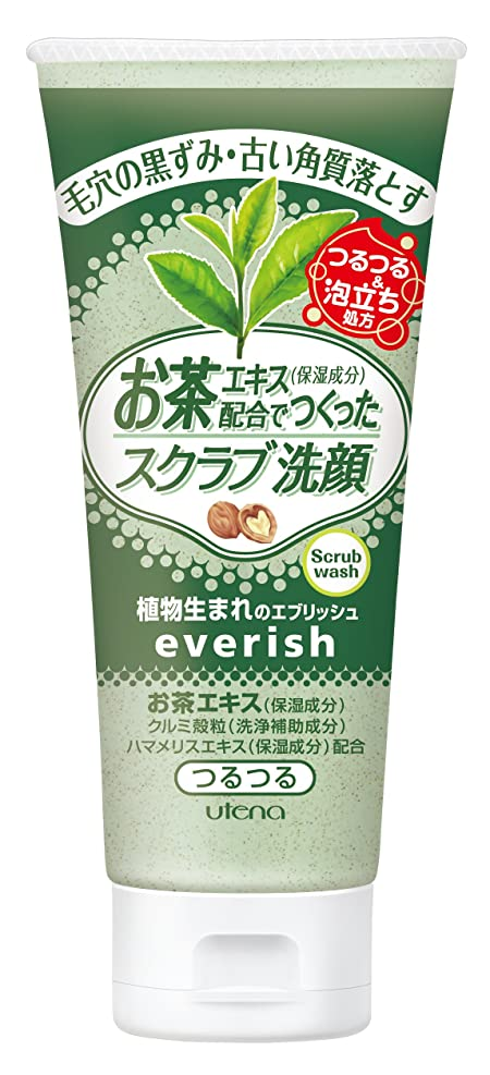 欠如良性ブランド名everish(エブリッシュ) お茶スクラブ洗顔 130g