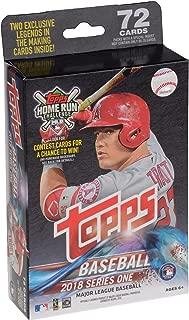 2018 Topps Baseball Series 1 Retail Factory Sealed 72 Card Hanger Pack - Baseball Wax Packs