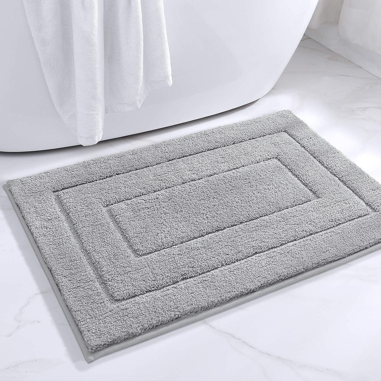 DEXI Bathroom Rug Mat, Extra Soft Absorbent Premium Bath Rug, Non-Slip Comfortable Bath Mat, Carpet for Tub, Shower, Bath Room, Machine Wash Dry, 16