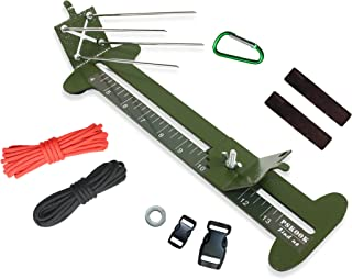 2 in 1 Monkey Fist Jig Paracord Jig Adjustable Length Paracord Jig Bracelet Maker Kit Metal Weaving DIY Craft Paracord Tools 4