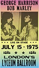 "George Harrison & Bob Marley 13""x22"" Vintage Style Showprint Poster - Concert Bill - Home Nostalgia Decor Wall Art Print"