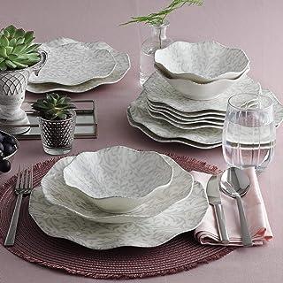 Vaisselle 24 Pièces, Ensemble D'assiettes, Ensemble De Service, 6 Bols, 6 Assiettes À Dessert, 6 Assiettes Creuses, 6 Assi...