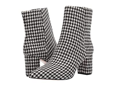 J.Crew Houndstooth Pointy Toe Maya Boot (Graphic Houndstooth Black/White) Women