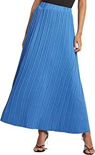 Pleated Detail Maxi Skirt For Women Closet by Styli
