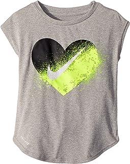 Nike Kids - Spray Heart Dri-FIT Modern Tee (Toddler)