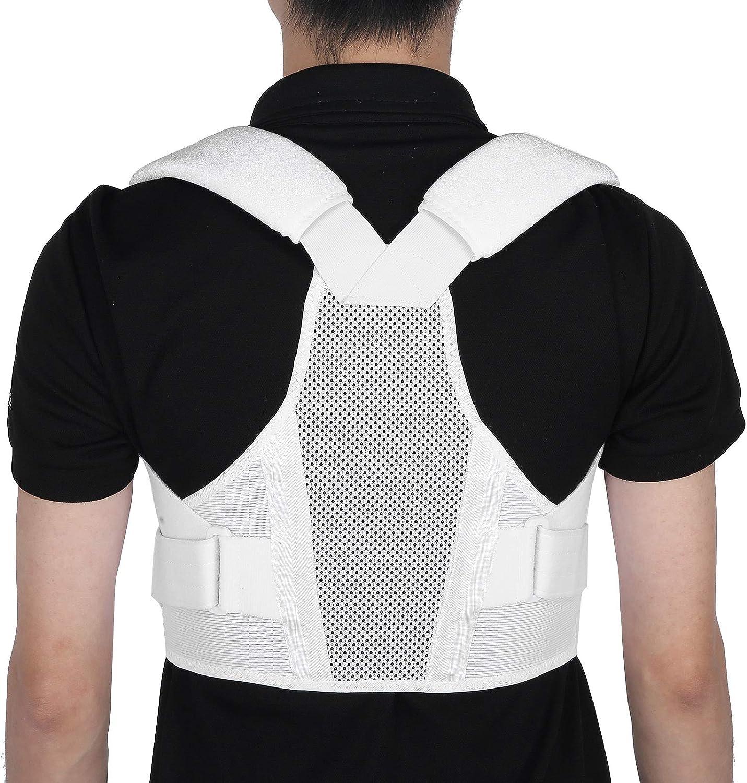 Soporte de espalda para hombros con soporte lumbar, soporte de espalda ajustable para hombres y mujeres, alivio para el dolor de espalda, escoliosis, soporte de espalda para enderezar la columna(l)