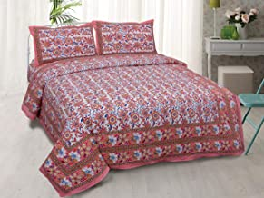 Healing Crystals India Cotton 220 TC Bedsheet (Multicolour_Standard)