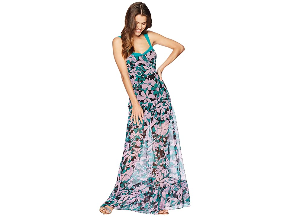 For Love and Lemons Maritza Floral Maxi Dress (Lilac Floral) Women