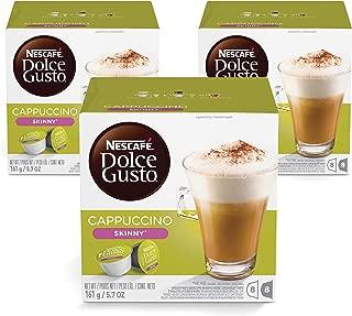 Nescafe Dolce Gusto Skinny Cappuccino Coffee Capsules (48 Capsules,  24 Cups)