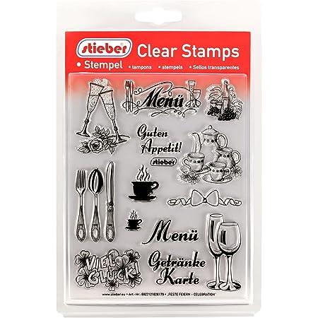 stieber Clear Stamps Transparente Stempel Sets Bitte gew/ünschtes Motiv//Thema unten ausw/ählen! Katzen - Cats