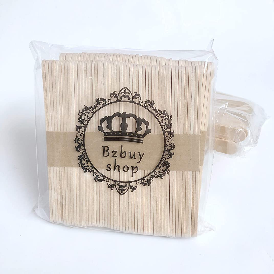Bzbuy-Shop 200 Pcs Craft Sticks Ice Cream Sticks Natural Wood Popsicle Craft Sticks 4-1/2