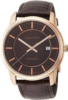 Calvin Klein - Reloj Analogico para Hombre de Automático con Correa en Cuero K5S346GK