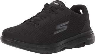Skechers Men's GO Walk 5-Qualify Trainers, Textile/Synthetic/Black Trim BBK, 15 (50 EU)
