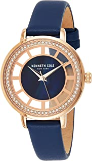 Kenneth Cole Womens Quartz Watch, Analog and Leather- KC51129003