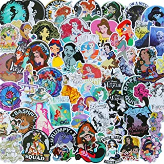 Various Sweet Princess Sticker 100 PCS PVC Waterproof Stickers for Laptop, Notebooks, Car, Bicycle, Skateboards, Luggage Decoration (Sweet Princess)