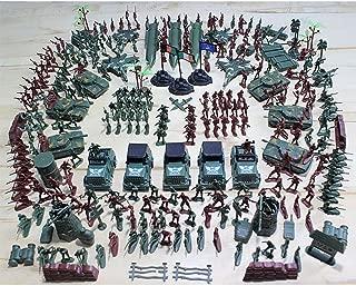 Gazelle Trading 307 Pieces Plastic Civil War Army Men Toy Soldier Set Action Figure Tank Playset Model Handbag Kit