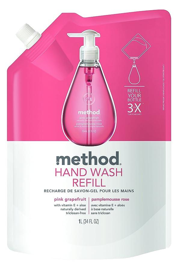 カヌーすごい承認するメソッド(Method) ハンドソープ ジェル リフィル ピンクグレープフルーツ 1L