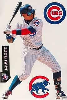 FATHEAD Javier Baez Graphic + Chicago Cubs Logo Set Official MLB Vinyl Wall Graphics 17