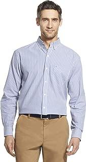 Men's Button Down Long Sleeve Stretch Performance Stripe Shirt