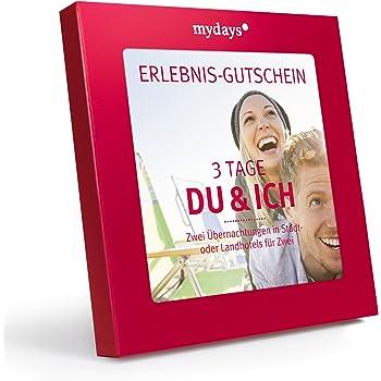 mydays Hotel-Gutschein 3 Tage Du & Ich in Geschenkbox, 2 Übernachtungen inkl. Frühstück, 100 Hotels, Kurzurlaub für Paare